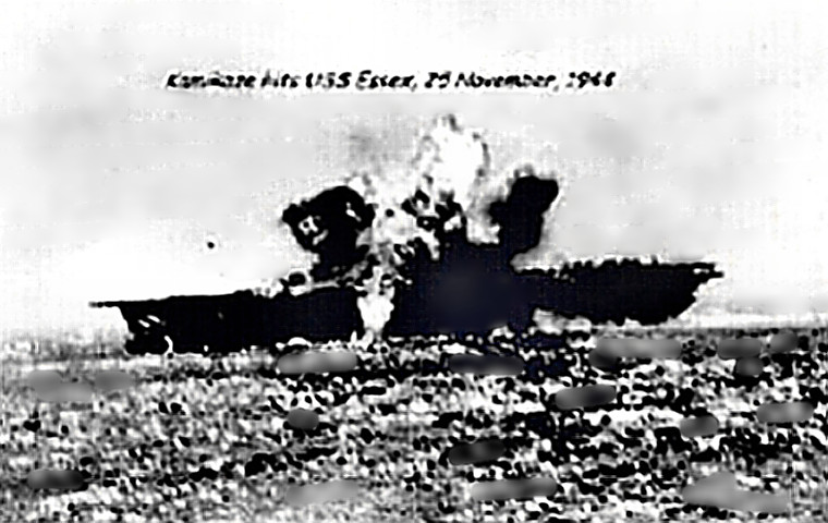 Kamikaze hit USS Essex
