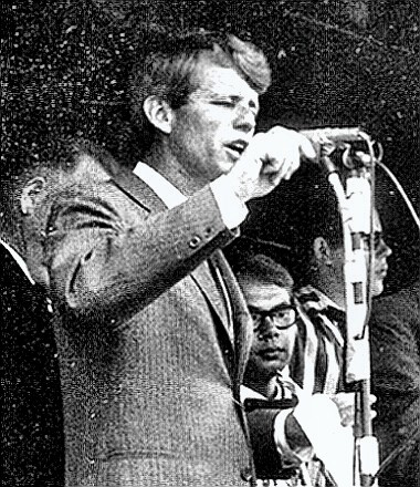 Robert Kennedy speaking on the stump