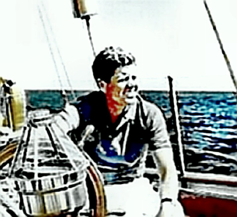 JFK on the sea