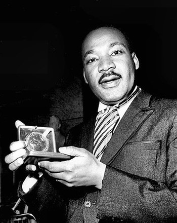 Dr. Martin Luther King, Jr, with the prize