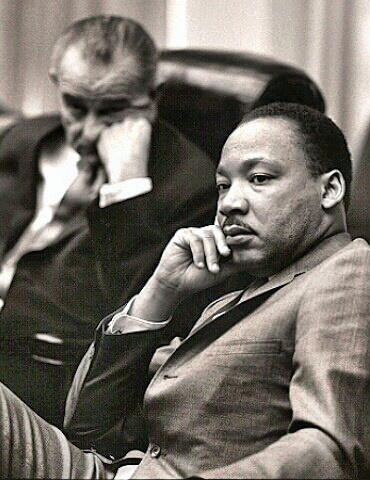 Martin Luther King and LBJ