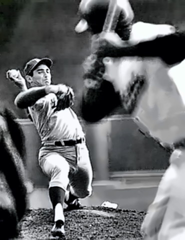 Sandy Koufax at work