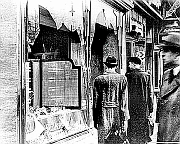 Kristallnacht damage to shops