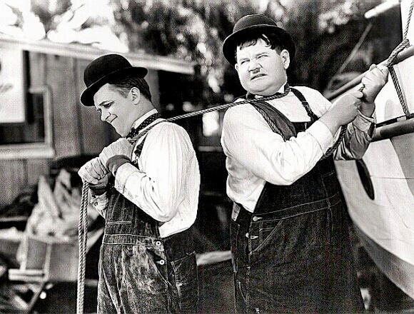 Laurel and Hardy carry out the Iraq Plan