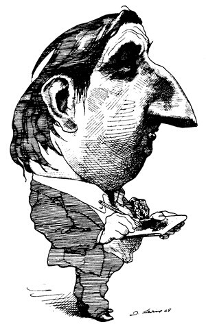 Caricature of David Levine