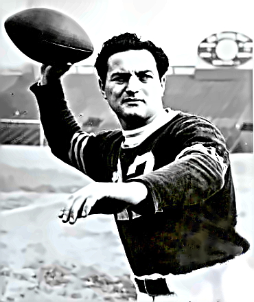Football Great Sid Luckman
