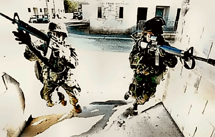 Marines in urban combat