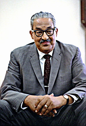 Retired Supreme Court Justice Thurgood Marshall