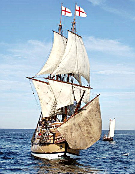 Mayflower in Plimoth Harbor