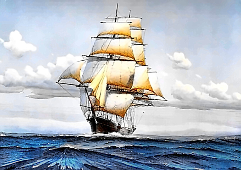 Painting of Donald McKay's Flying Cloud clipper