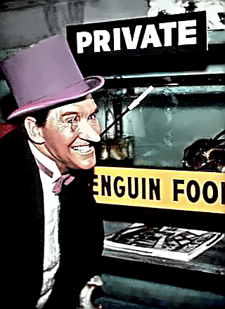 Actor Burgess Meredith as Penguin