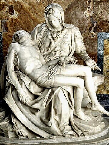 Michelangelo - his Pieta sculpture