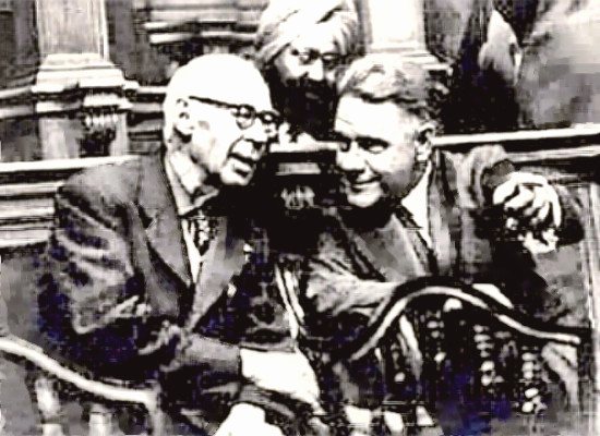 Henry Miller and Laurence Durell in court