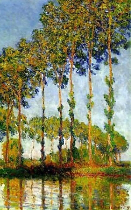 Monet - Poplar Trees 1891