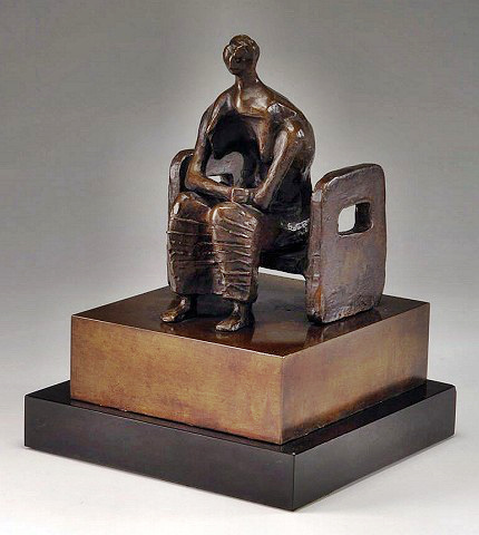 Sculptor Henry Moore's Seated Woman
