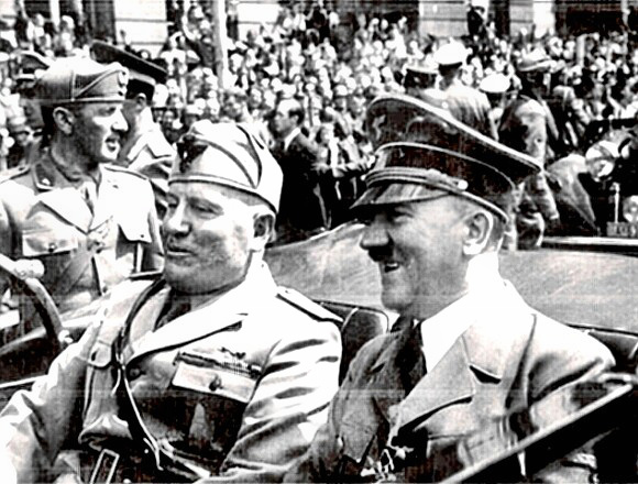 Birds of a feather: Benito Mussolini & Adolf Hitler