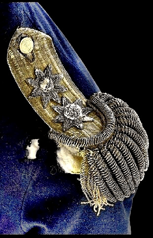 Vice Admiral Nelson - left epaulette showing fatal musket ball hole