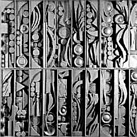 Louise Nevelson's work Rain Garden