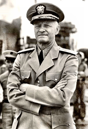 Admiral Chester Nimitz in dress khakis