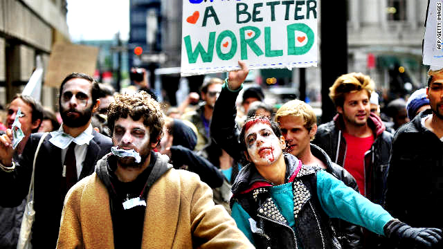 Occupy Wall Street protestor zombies