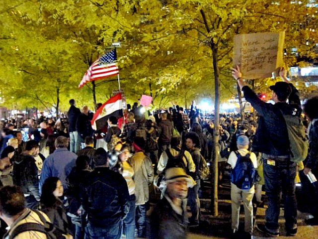 Occupy Wall Street Zuccotti Park crowd 11/15/2011