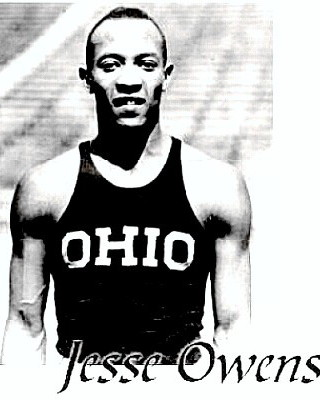 Track Great Jesse Owens competing for Ohio