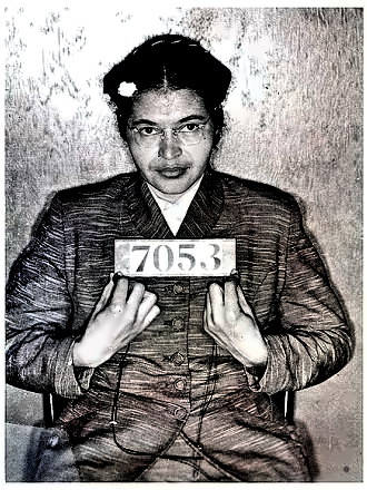 Rosa Parks' booking photo