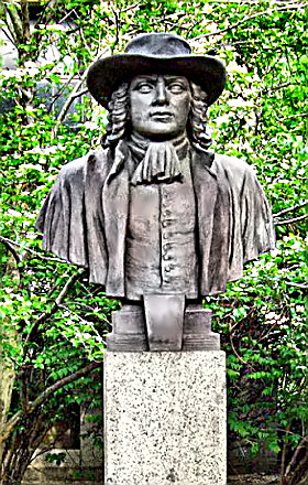 Statue of Colonial Leader William Penn