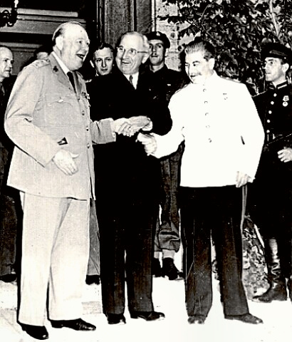 Potsdam Conference Day 1 - Big Three of Churchill, Truman and Stalin