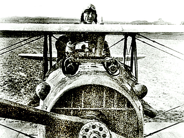 Eddie Rickenbacker in his plane