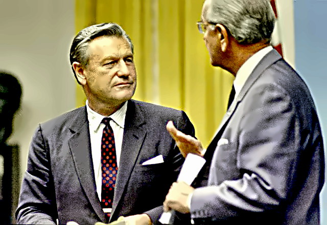 Governor Nelson Rockefeller with LBJ