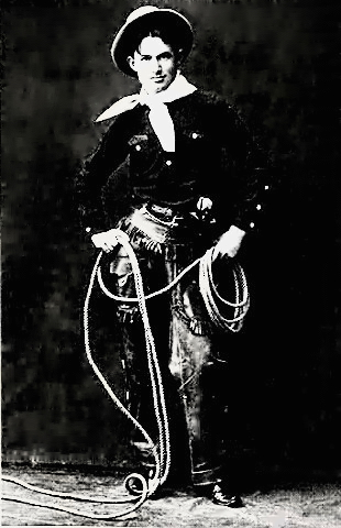 Will Rogers twirling a rope