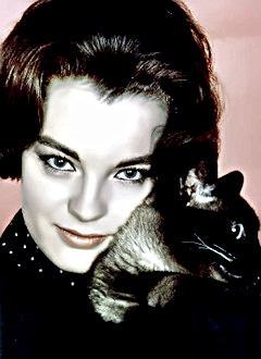 Actress Romy Schneider & Friend