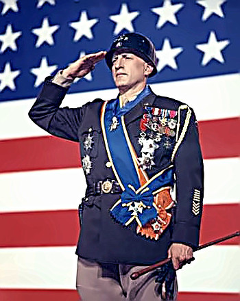 Actor George C. Scott as General George Patton