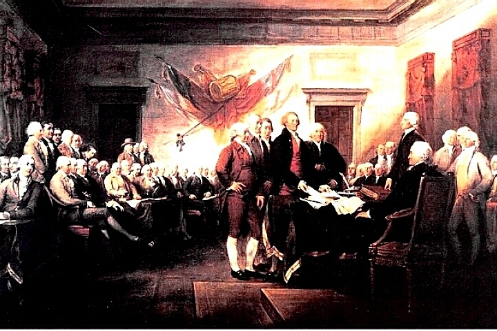 Signing of The Declaration of Independence by Trumbull