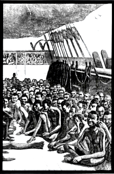 African slaves aboard a ship