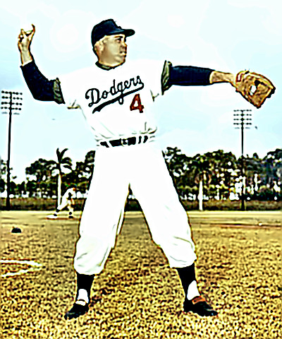 Dodger Center Fielder Duke Snider