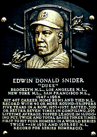 Hall of Famer Duke Snider