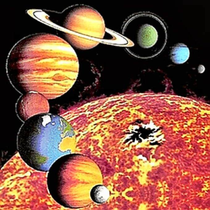 The Solar System Before - 9 Planets intact