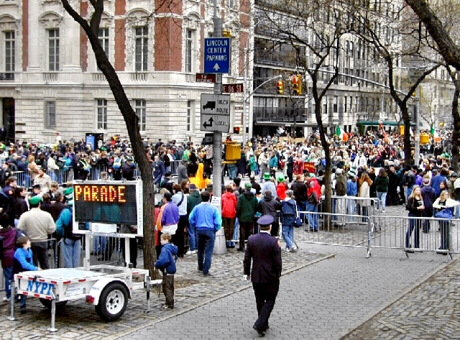 St. Patrick's Day parade in New York (recent)