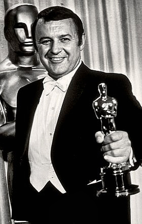 Actor Rod Steiger collecting his Oscar
