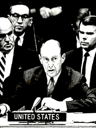 Adlai Stevenson at the UN during Cuban Missile Crisis