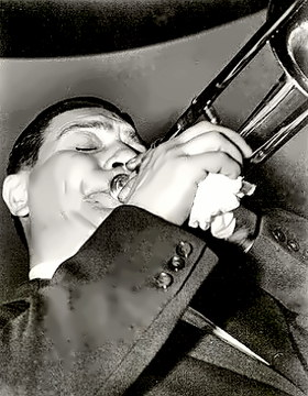 Jazzman Jack Teagarden close up