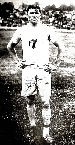 Jim Thorpe in Olympics uniform