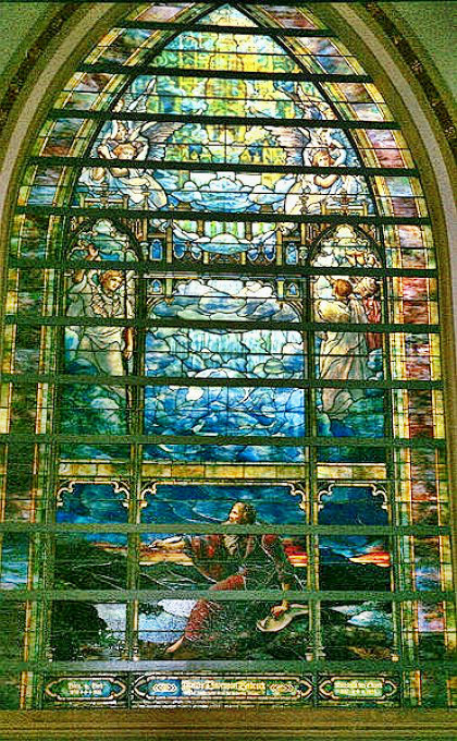 Louis Tiffany's Holy City stained glass window