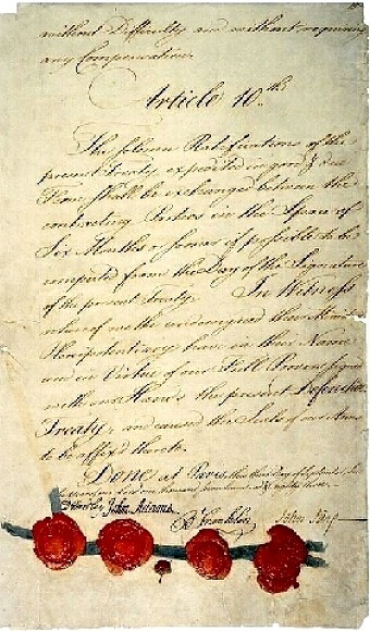 Treaty of Paris - 1783-signature page