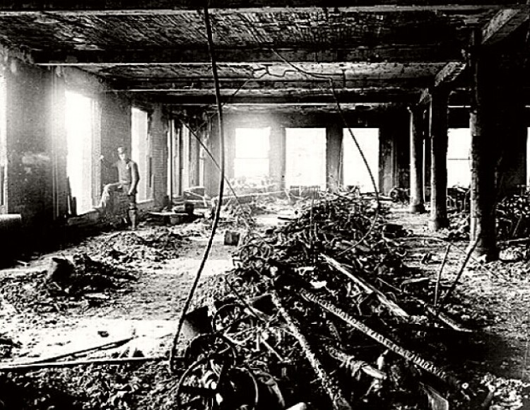 Triangle Shirtwaist factory ruins