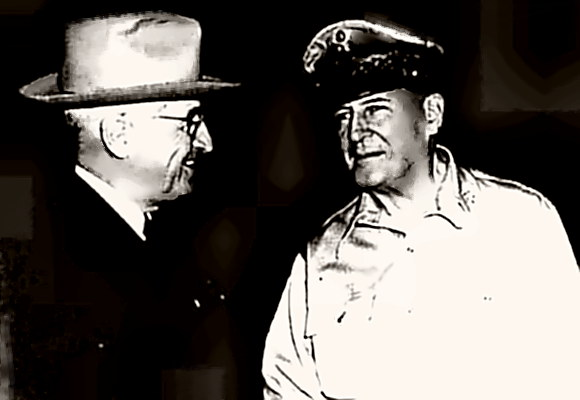 President Truman with General MacArthur