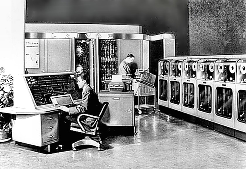 UNIVAC 1 - Console, CPU, Tape Drives