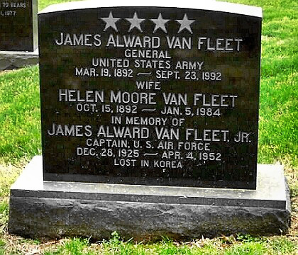 General James Van Fleet's Arlington gravesite